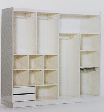 Разпределение на гардероба отвътре